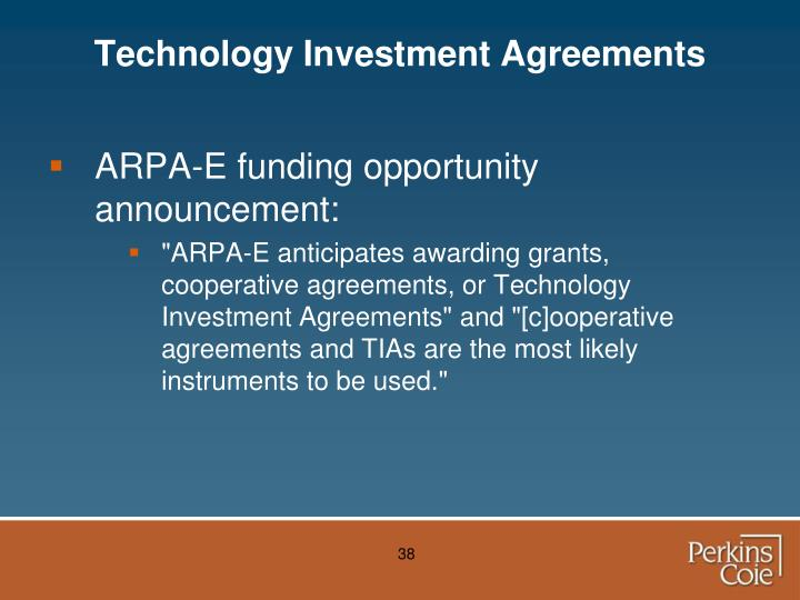 Technology Investment Agreements