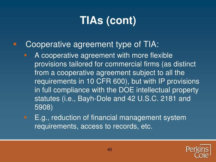 TIAs (cont)