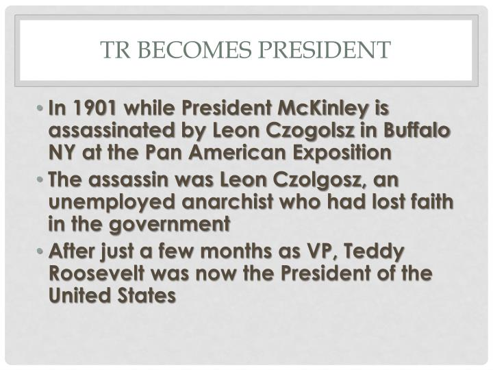 TR becomes President