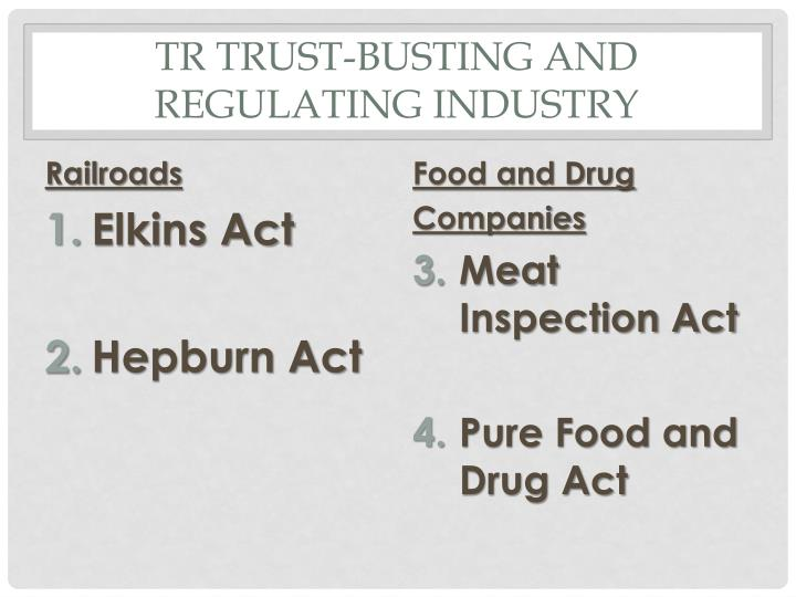 TR Trust-busting and