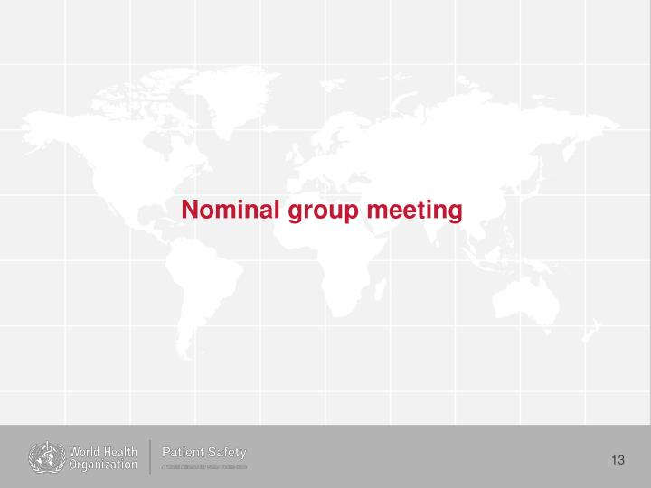 Nominal group meeting