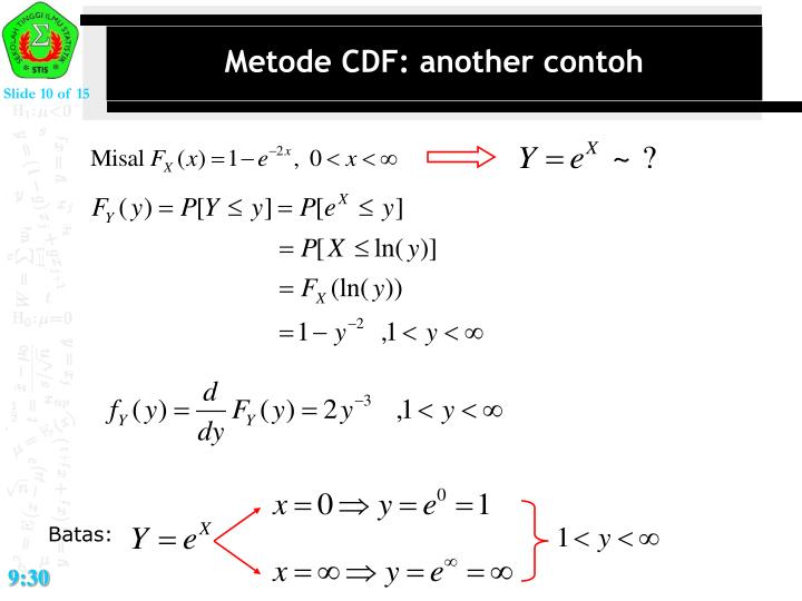 Metode CDF: another contoh