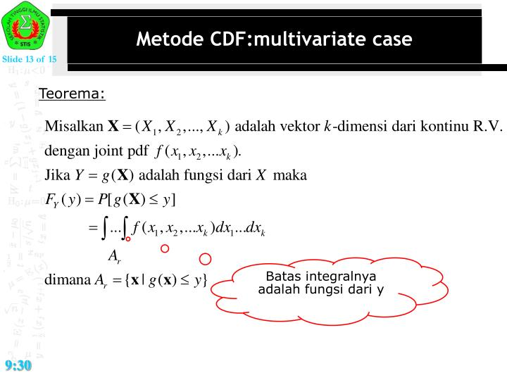 Metode CDF:multivariate case