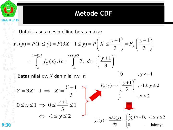 Metode CDF