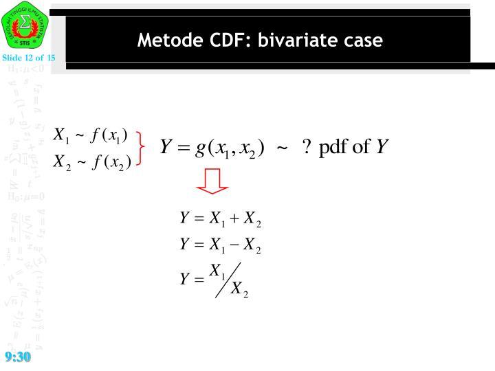 Metode CDF: bivariate case