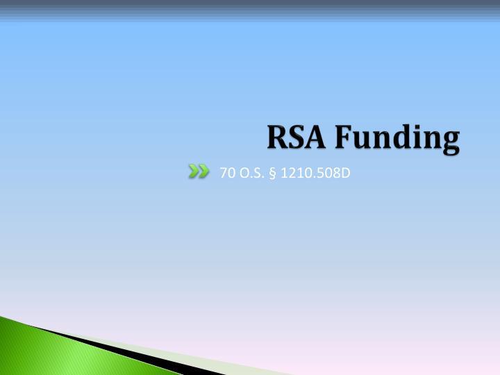 RSA Funding