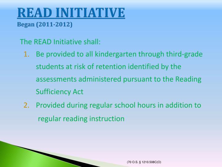 READ INITIATIVE