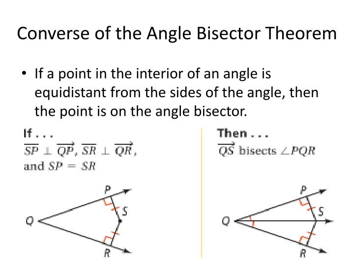 Converse of the Angle Bisector Theorem