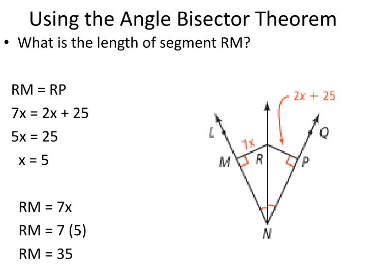 Using the Angle Bisector Theorem