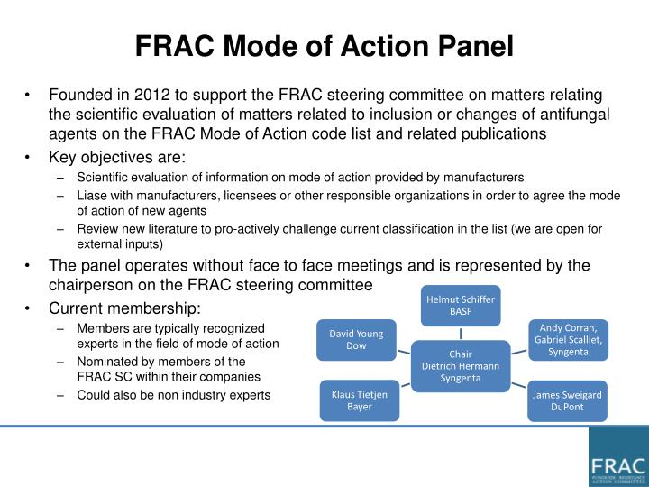 FRAC Mode of Action Panel