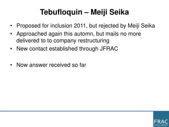 Tebufloquin – Meiji Seika