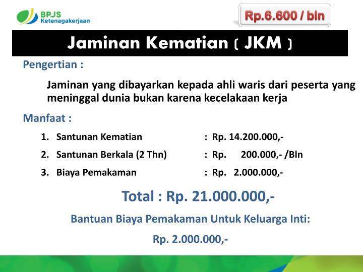 Rp.6.600 / bln