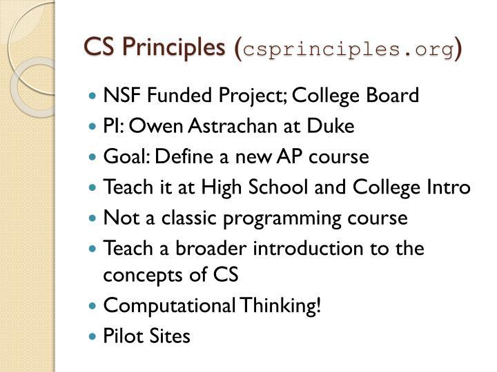 CS Principles (