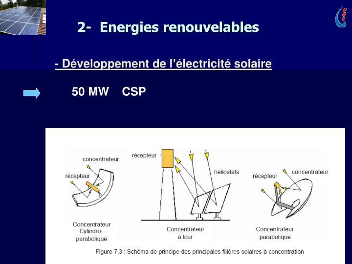 2-  Energies renouvelables