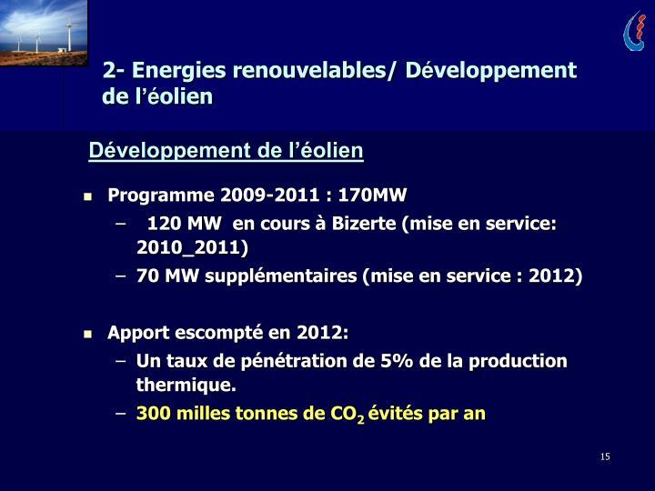 2- Energies renouvelables/ D
