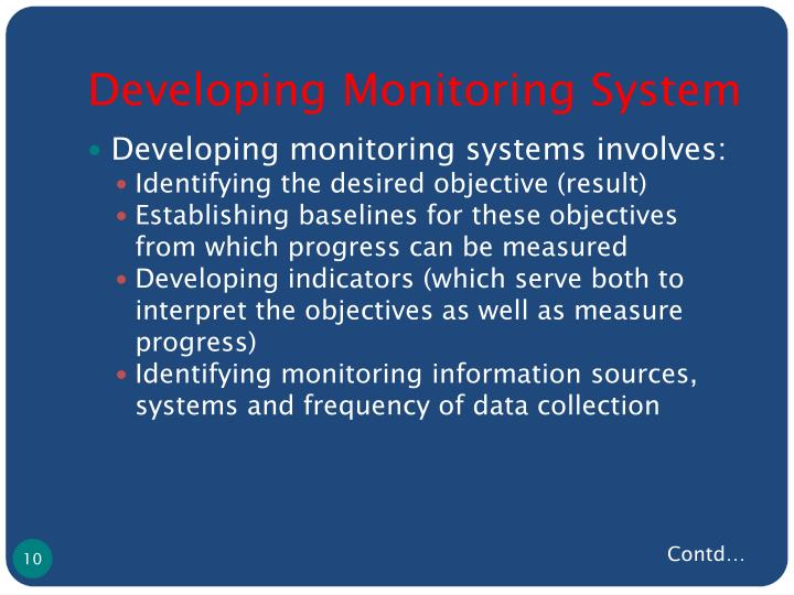 Developing Monitoring System