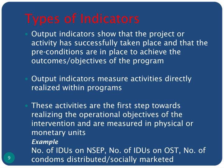 Types of Indicators