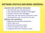 software lifecycle dari model waterfall
