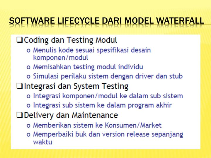 Software lifecycle