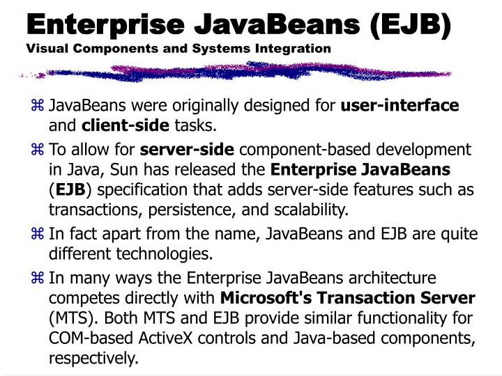 Enterprise JavaBeans (EJB)