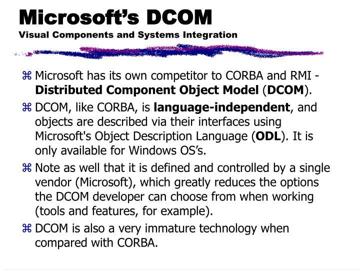 Microsoft's DCOM
