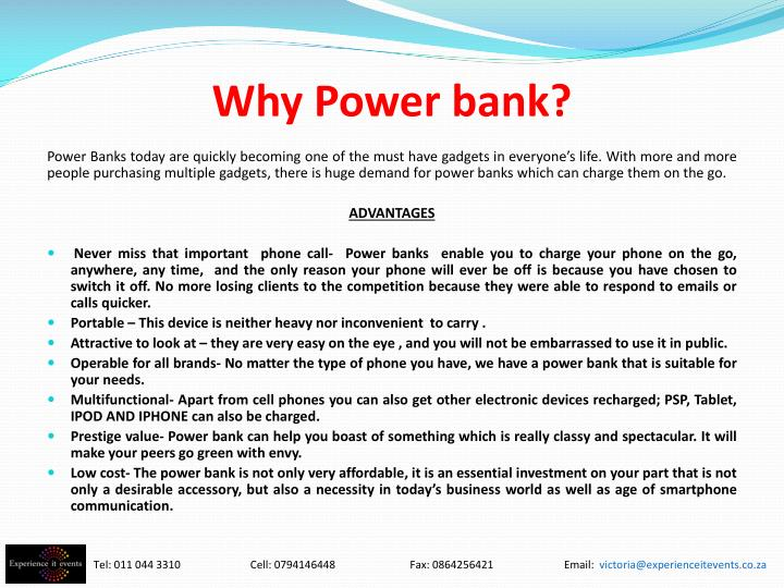 Why Power bank?