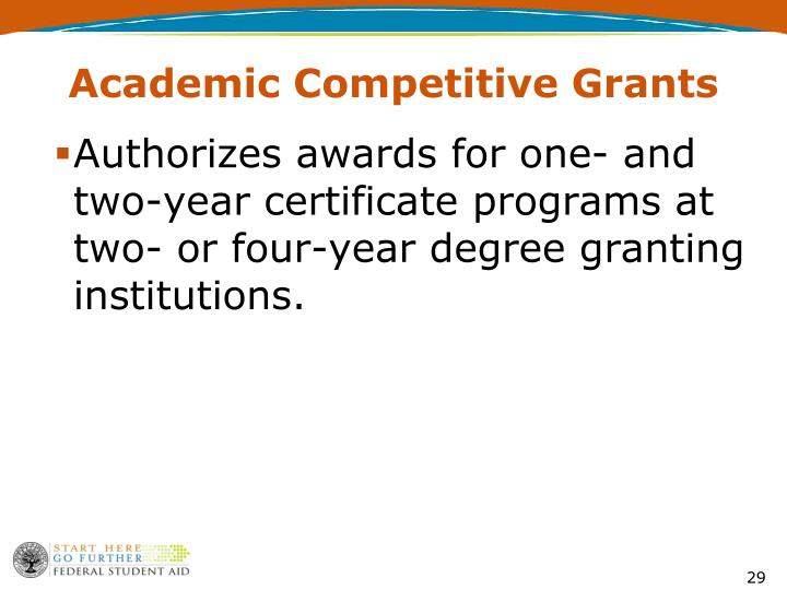 Academic Competitive Grants