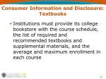 consumer information and disclosure textbooks1
