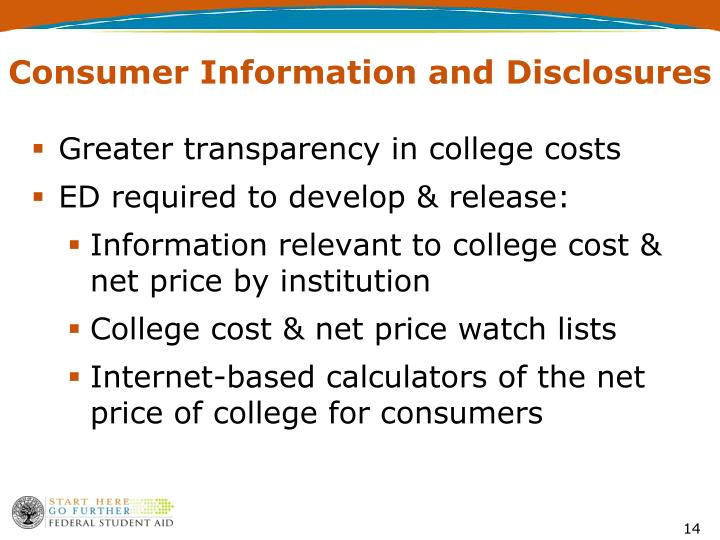 Consumer Information and Disclosures