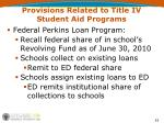 provisions related to title iv student aid programs7