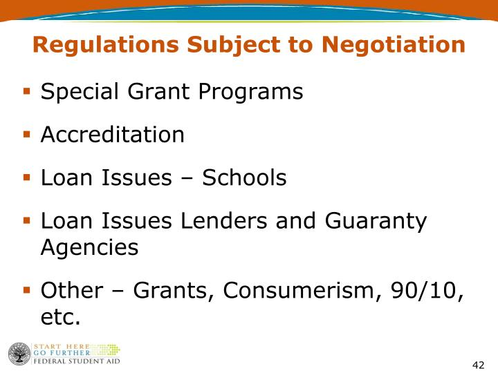 Regulations Subject to Negotiation