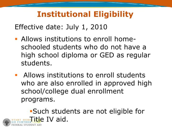 Institutional Eligibility