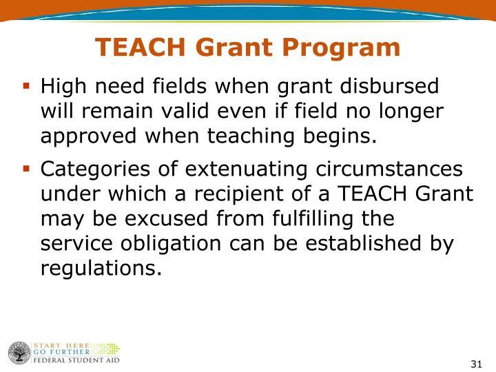 TEACH Grant Program