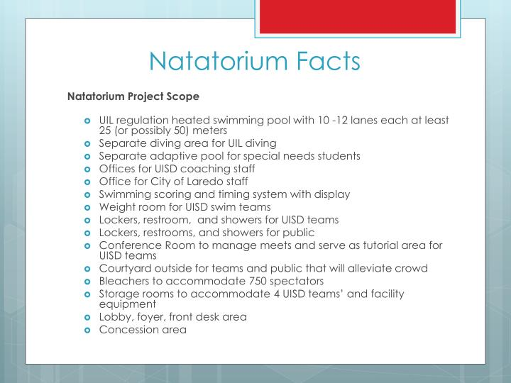 Natatorium Facts
