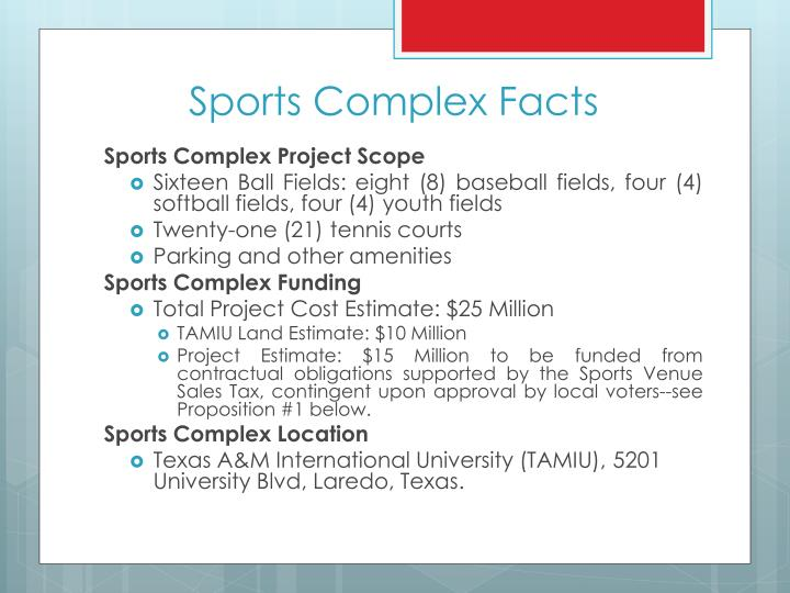 Sports Complex Facts