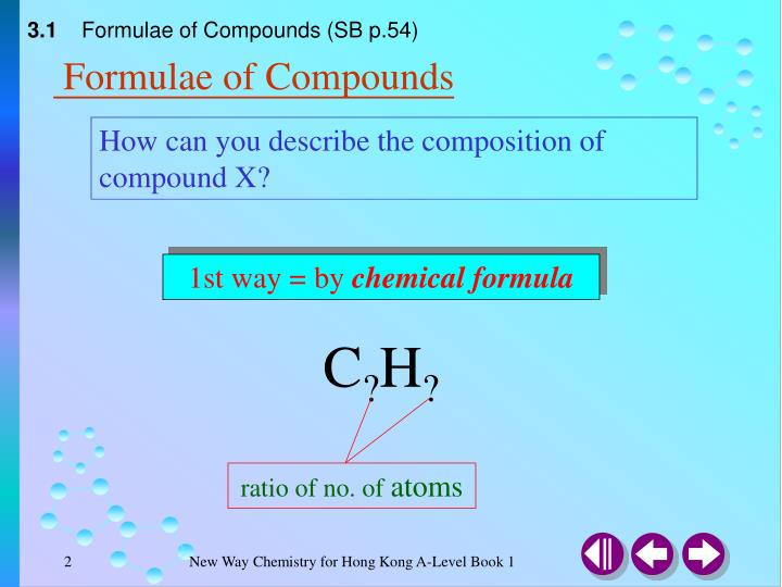 Formulae of compounds