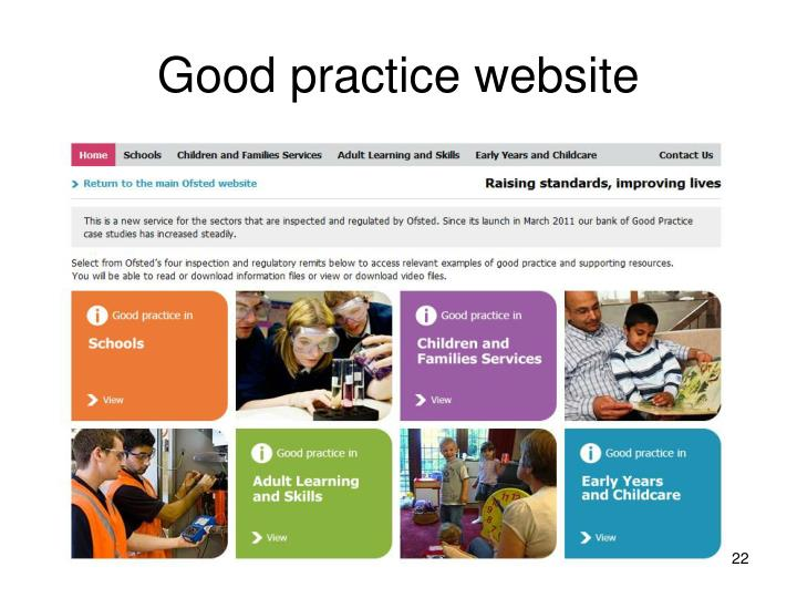 Good practice website