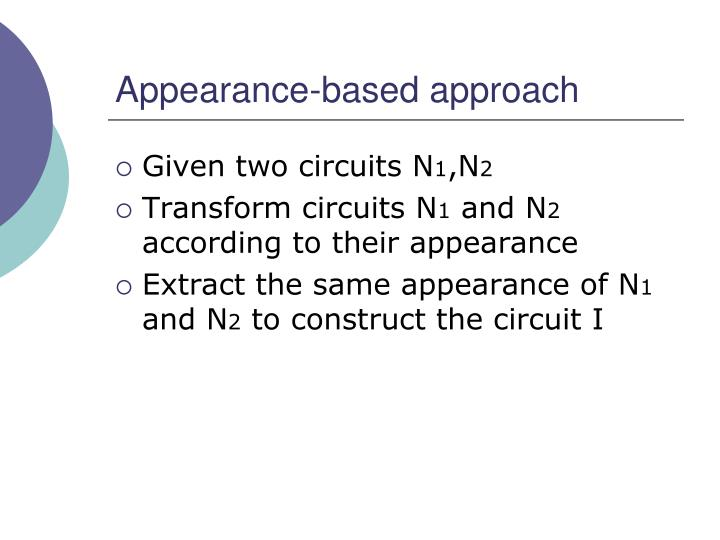 Appearance-based approach