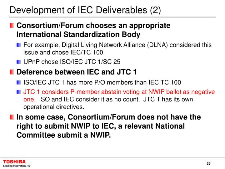 Development of IEC Deliverables (2)