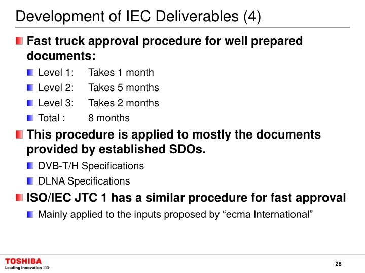 Development of IEC Deliverables (4)