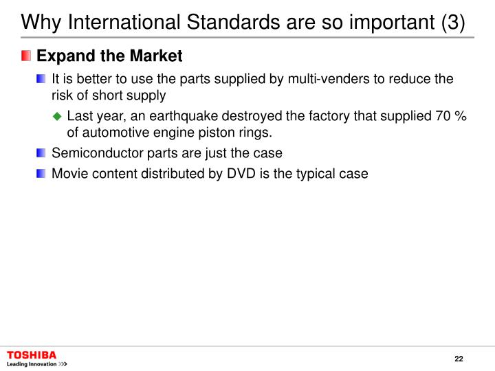 Why International Standards are so important (3)