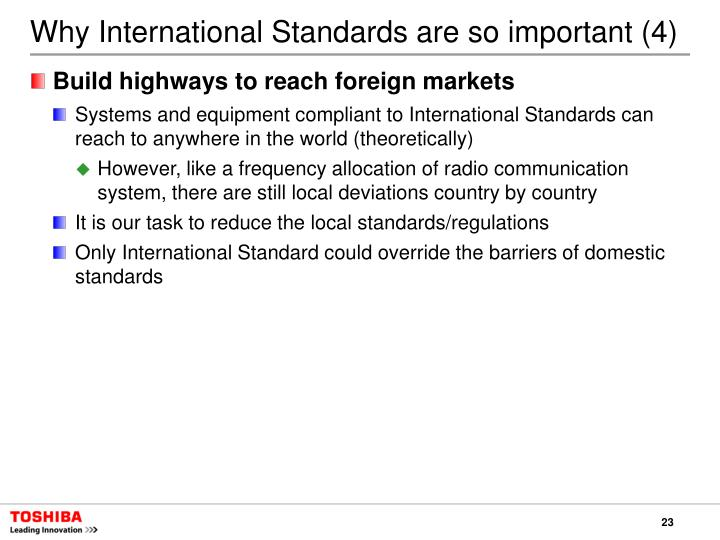 Why International Standards are so important (4)
