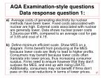 aqa examination style questions data response question 1