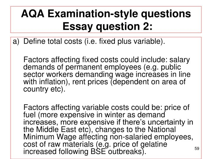 AQA Examination-style questions