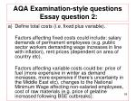 aqa examination style questions essay question 2