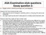 aqa examination style questions essay question 21