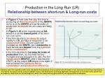 production in the long run lr relationship between short run long run costs
