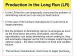 production in the long run lr1