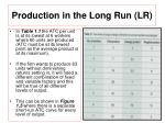 production in the long run lr2