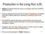 production in the long run lr5